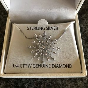 Jewelry - 1/4 Genuine diamond sterling silver starburst